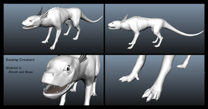 Swamp Creature Model by ChronosAbyss