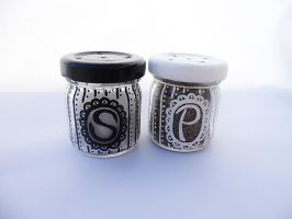 Mini Salt and Pepper Shakers by kampfly