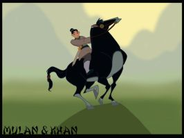 Mulan And Khan by dyb