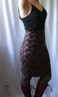 plaid military pencil skirt 2 by smarmy-clothes