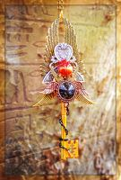 The Scarab Queen Egyptian Key Necklace by ArtByStarlaMoore