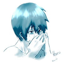 //Little Sketch// Haruka crying by x-Tsuka-x
