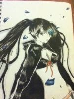 Fanart of Black Rock Shooter by Saya024