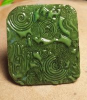 Faux Jade Chinese style pendant by Letizializ