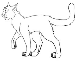 F2U cat lineart paint by AgenderedKing