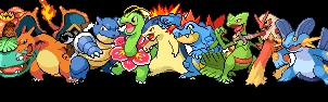 Pokemon - starter banner by Ceyism