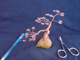Miniature Wire Bonsai Tree 09-1 by sinisaart