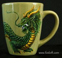 Eastern Earth Dragon Mug by Foxfeather248
