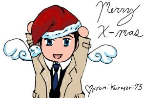 Merry Christmas Castiel by Kuragari75