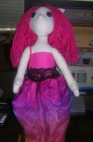Hot Pink Pinky Poppet Twin by Eliea