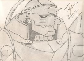 Alphonse Drawing! (Fullmetal Alchemist) by IamCourier