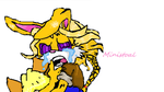 Bunnie cry done on paint by Ministoal