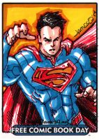 Superman Sketch Card by jamesq
