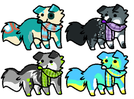 Point Adoptables Set 24 [closed] by RawrsAdopts