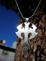 super sweet cross necklace by shandab3ar