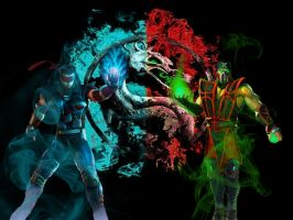 Kenshi and Ermac by LSDreaming