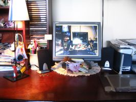 The desk I have is not messy. by Nikarma