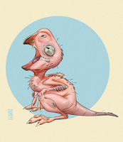 Baby Oviraptor by CamaraSketch