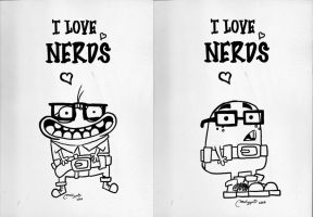i love nerds nerds by melivillosa