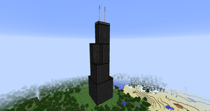 Minecraft - Sears (Willis) Tower by MinecraftArchitect90
