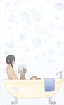 LH: Bath Time by Ren-RenNightmare