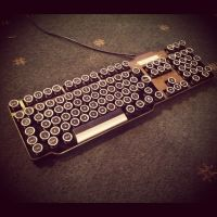 Steampunk Keyboard (1) by HannaLTD
