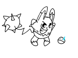 Sketch Request 4 - Mega Azumarill by DummyHeart