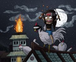 Ninja Chicken Warrior Miki by ReallyAngry