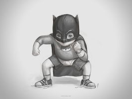 little vintage batman by chicopixel