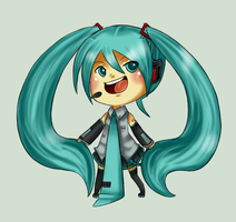 Hatsune Miku by SuperHeroPattyFatty
