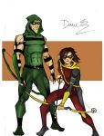 Bullseye and Green Arrow- YJ art by RJDJ-Productions
