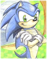Watercolor Green Hill Sonic by MaRaMa-TSG