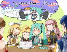 Miku's 5th birthday by grimay