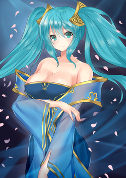 Classic Sona  . NSFW available. by Erowaifu