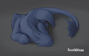 Toothless Doodle 1 by renadrawer