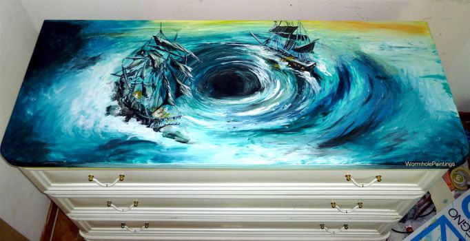 Maelstrom on the dresser :) by WormholePaintings