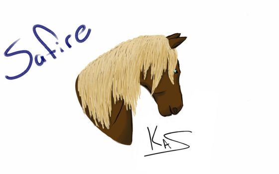 25 Minute Horse OC Sketch by Wolviey