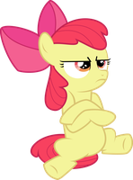 Pouting Applebloom by Soren-the-Owl