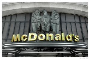 Mc Donald's in Gold Letters by BenHeine