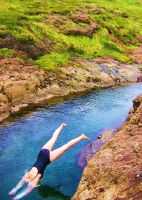 Me Jumping in River by 1000damateur