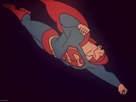 Superman Night Flight by haydenyale