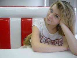 I am with my sister in a pizzeria by Ovallesy