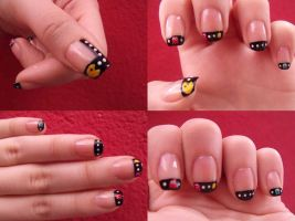 Pac Man is heree by lovely-nail-art
