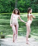 Keira and Chris at the pond 5 by huitphotography
