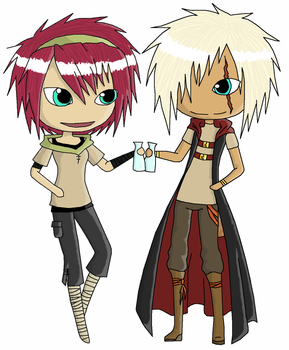 Xeru And Keiran -colored- by Zerumi