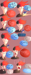 Markiplier feat a lot of the heads by Pinkienight7