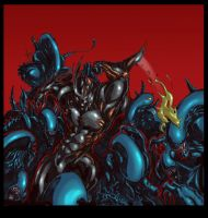 ALIENS vs. The Guyver by blackpoint