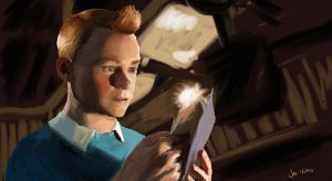 TINTIN: adventure time by Panda-Ink