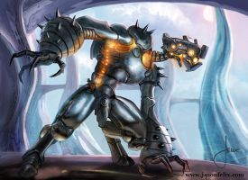 Sentinal Robot -Magic The Gathering by jason-felix