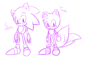 Classic Sonic an Tails by HearlessSoul